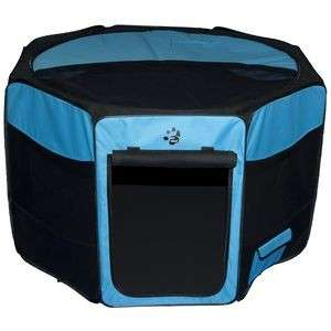 Pet Gear 46 Travel Lite Octagon Dog Pen Playpen Blue