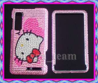 Pink cute Hello Kitty Bling Case Cover For Motorola Droid 3 III XT862