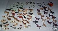 HUGE LOT ERTL FARM ANIMALS COWS HORSES PIGS CHICKENS DUCKS + FENCING+