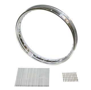 BSA Chrome Wheel Rim & Stainless Spoke Kit QD Hub WM2 X 18 [40 6080C
