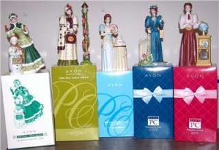 Avon Mrs. Albee Presidents Club Figurines 2003, 2006, 2007, 2009