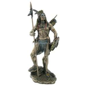 Naive American Indian Sculpure   Sm. Sioux Indian Warrior
