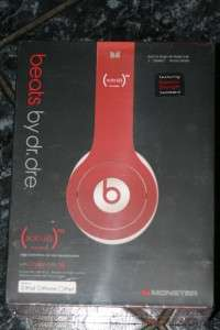 Monster Beats Dr. Dre Studio Headphones (RED) HD SOLO Built in Mic
