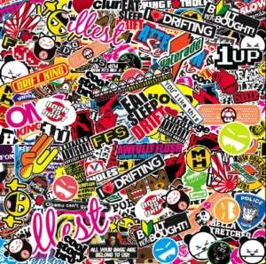 JDM sticker bombing sheet 665x665mm *NEW* sticker bomb