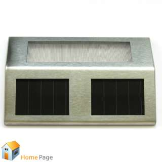 Solar Powered Power Lamp Lights LED Pathway Path Step Stairs Wall