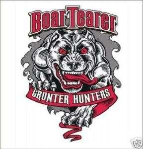 HOG DOG HUNTING DECAL GRUNTER HUNTER DOG HOG HUNTING