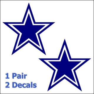 Cowboys Star Decals Window Sticker Set Pick Any Color