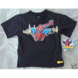 NWT Spider Man Spiderman boys black t shirt Sz Small 4