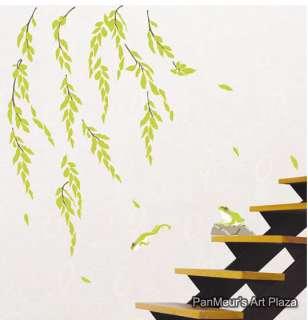 KR 22 Weeping Willow, Decals Decor Wall Art Sticker DIY