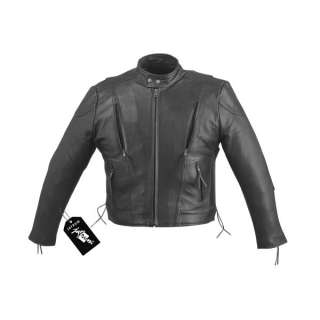 Leather Motorcycle Biker Scooter Vented Jacket Vest Chaps M 5XL