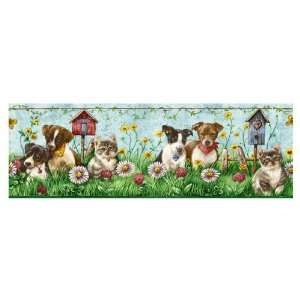 Sanitas Puppies & Kittens Wallpaper Border CK062172B